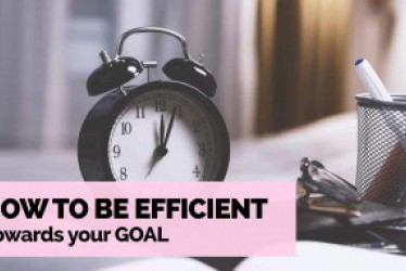 How to be Efficient Towards Your Goal